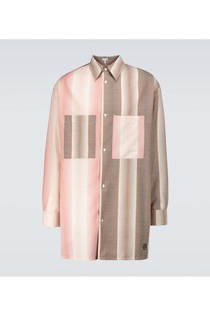 Loewe Camicia oversize in lana e cotone