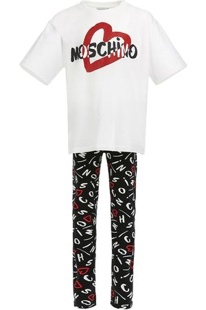 Moschino T-shirt E Leggings In Jersey Di Cotone