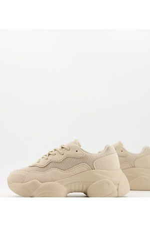 ASOS Wide Fit - Divine - Chunky sneakers a pianta larga color tortora- pietra