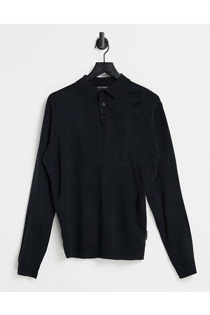 French Connection Polo a maniche lunghe navy