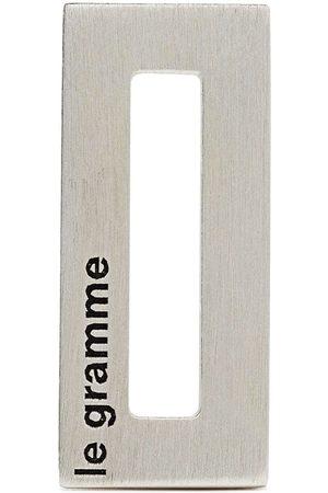 Le Gramme Ciondolo rettangolare con logo inciso