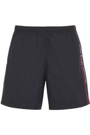 Alexander McQueen Shorts Mare In Nylon Con Logo