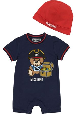 Moschino Baby - Tutina e berretto in cotone stretch