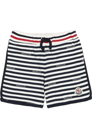 Moncler Shorts a righe in cotone