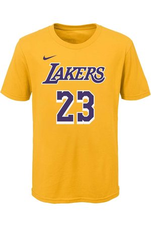 Nike Bambino T-shirt - T-SHIRT NAME NUMBER LAKERS JAMES BAMBINO