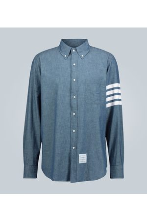 Thom Browne Camicia 4-Bar in chambray