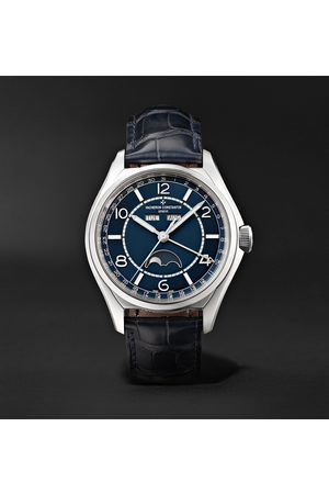 VACHERON CONSTANTIN Uomo Orologi - Fiftysix Automatic Complete Calendar 40mm Stainless Steel and Alligator Watch, Ref. No. 4000E/000A-B548