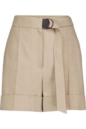 Brunello Cucinelli Shorts in cotone e lino