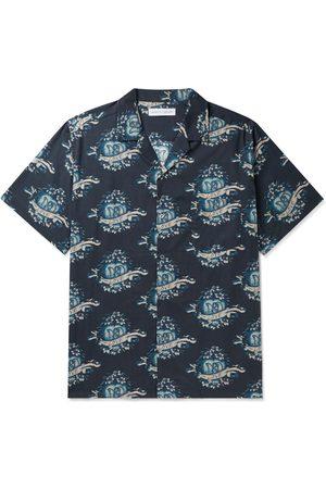 Desmond & Dempsey Uomo Pigiami - Eros Camp-Collar Printed Cotton Pyjama Shirt