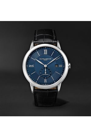 Baume & Mercier Uomo Orologi - Classima Automatic 42mm Stainless Steel and Alligator Watch, Ref. No. 10480
