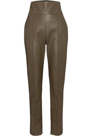 ALEXANDRE VAUTHIER Pantaloni slim a vita alta in pelle
