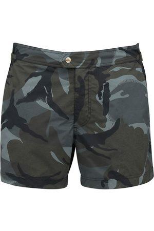 Tom Ford Shorts Mare In Faille Di Nylon Camouflage