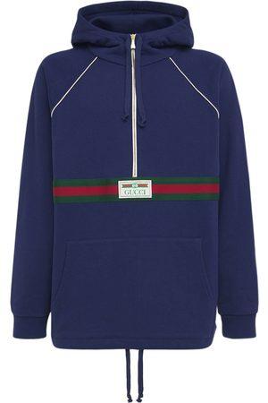 Gucci Felpa In Cotone Con Cappuccio E Zip