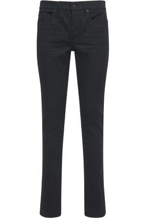 Saint Laurent Uomo Jeans - Jeans Skinny Vita Bassa In Denim Di Cotone 15cm
