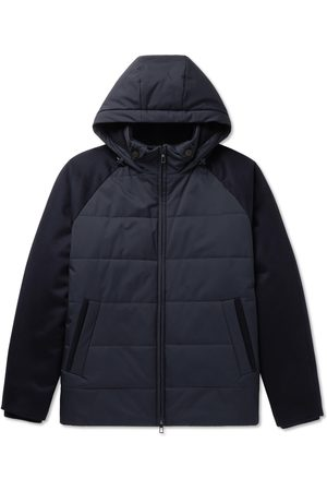 Loro Piana Uomo Giacche estive - Cashmere-Trimmed Quilted Softshell Hooded Jacket
