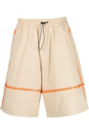 Dsquared2 Uomo Pantaloncini - Shorts con cuciture a contrasto - Toni neutri