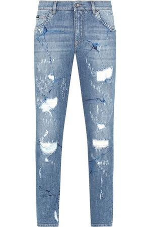 Dolce & Gabbana Jeans dritti con effetto vissuto