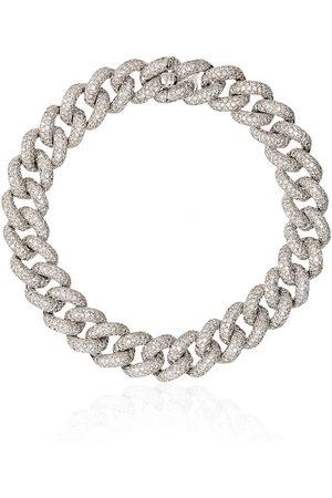 Shay Bracciale a maglia barbazzale in oro 18kt con diamanti Essential - SILVER