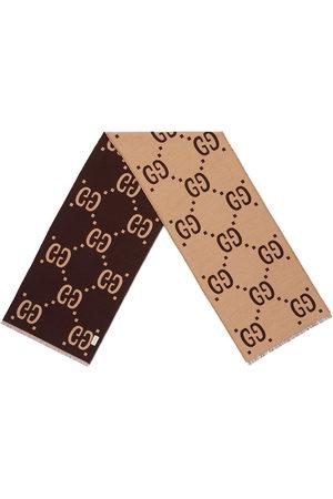 Gucci Uomo Sciarpe - GG jacquard wool silk scarf