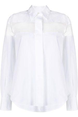 VALENTINO Camicia con pannello semi trasparente