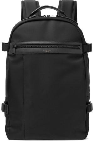 Saint Laurent Uomo Portafogli e portamonete - City Trekking Leather-Trimmed Shell Backpack