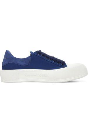 Alexander McQueen Sneakers In Tela Di Cotone E Camoscio 45mm
