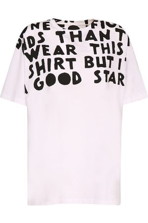 Maison Margiela Donna T-shirt - T-shirt In Cotone Con Stampa