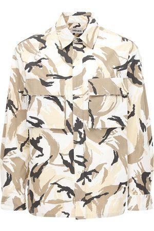 KENZO Camicia In Cotone Ripstop Camouflage