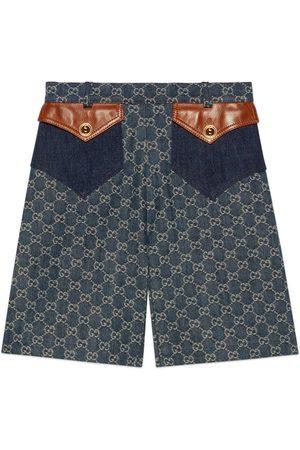Gucci Donna Pantaloncini - Shorts in denim organico délavé con trattamento eco