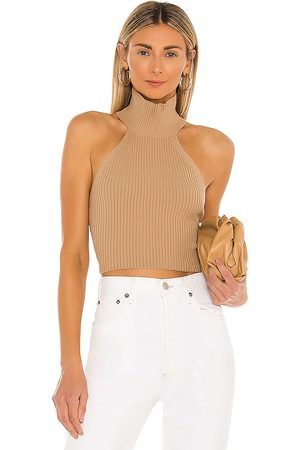 House of Harlow 1960 X REVOLVE Heather Halter Top in - Nude. Size L (also in M, XL).