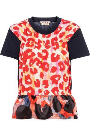 Marni T-shirt a stampa leopardata in cotone