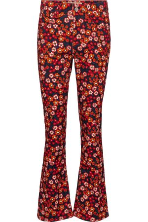 Marni Jeans flared a stampa floreale