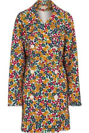 Marni Cappotto di jeans a stampa floreale