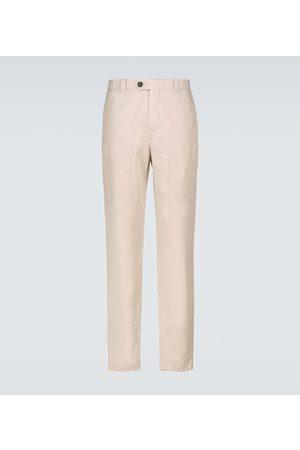 Brunello Cucinelli Pantaloni cargo in cotone e lino