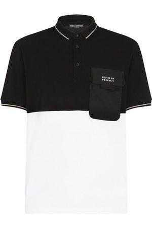 Dolce & Gabbana Polo bicolore con applicazione