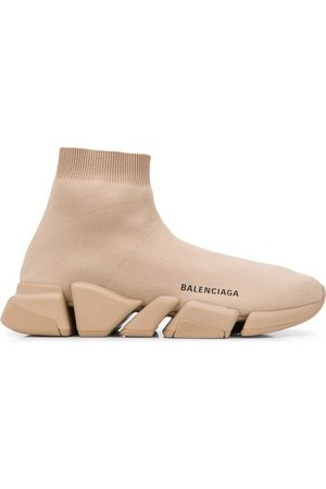 BALENCIAGA Sneakers a calzino Speed.2 LT Knit Sole - Toni neutri