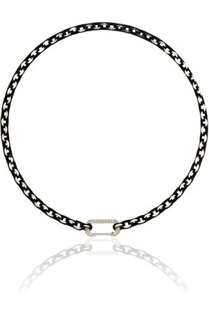 EÉRA Choker Lucy in 18kt con diamanti - WHITE GOLD BLACK