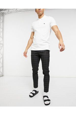 ASOS DESIGN Pantaloni super skinny eleganti neri a quadri