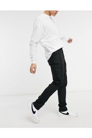 ASOS DESIGN Pantaloni cargo eleganti skinny neri
