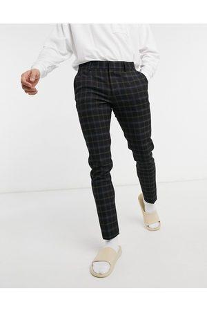 ASOS DESIGN Pantaloni eleganti super skinny neri a quadri