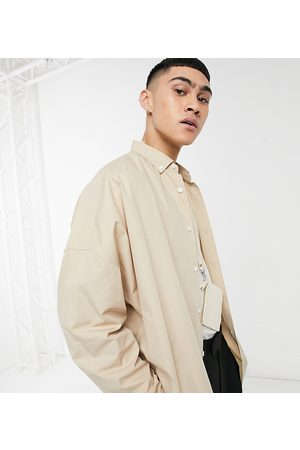 ASOS DESIGN Camicia dad fit extra oversize color cuoio