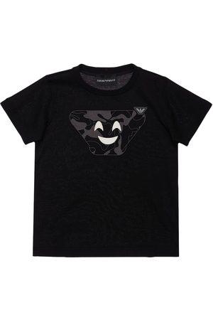 Emporio Armani T-shirt In Jersey Di Cotone Stampato