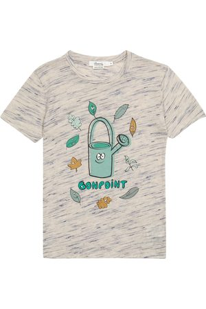 BONPOINT T-shirt in misto lino con stampa