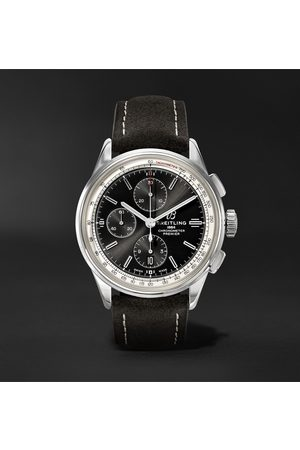 Breitling Uomo Orologi - Premier Automatic Chronograph 42mm Stainless Steel and Nubuck Watch, Ref. No. A13315351B1X1