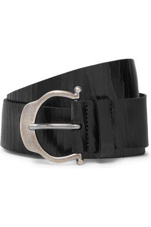 Saint Laurent Uomo Cinture - 3.5cm Cracked-Leather Belt