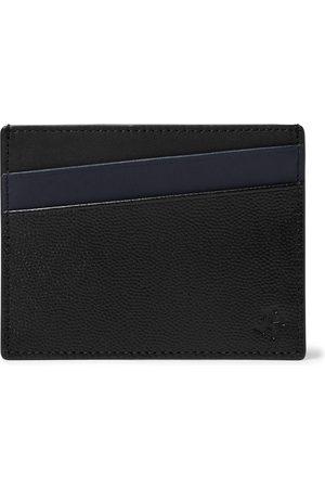 WANT LES ESSENTIELS Uomo Portafogli e portamonete - Colour-Block Pebble-Grain Leather Cardholder