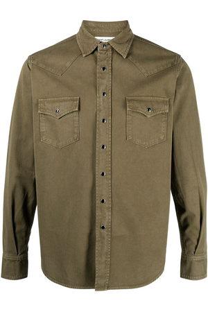 Saint Laurent Uomo Denim - Camicia denim con effetto schiarito