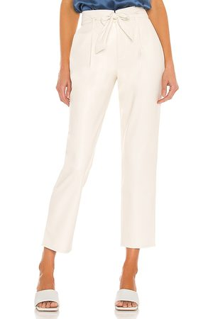 Paige Melila Vegan Leather Pant in - Cream. Size 0 (also in 2, 4, 6, 8).