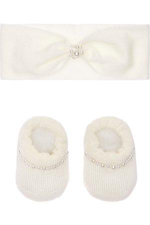 La Perla Fascia E Babbucce In Maglia Con Finte Perle