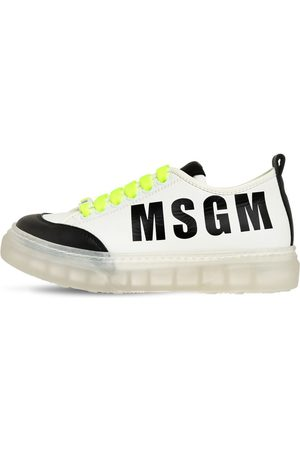 Msgm Sneakers In Pelle Con Logo